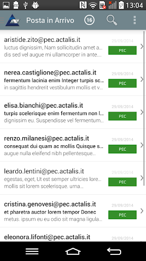 Actalis PEC Client