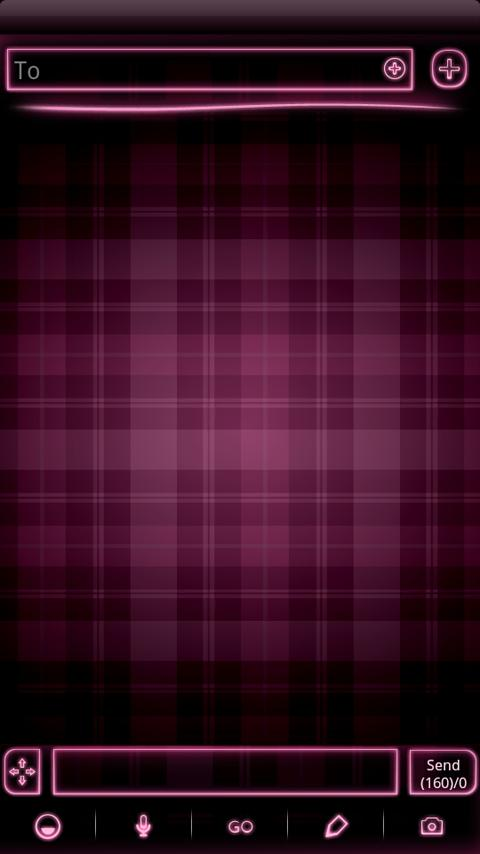 PINK Plaid Neon GO SMS Theme - screenshot