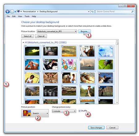 Best background option for windows