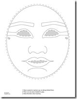 Máscara de Tutankamon para imprimir