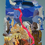 Rode draad, papiercollage