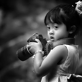 by Yustinus Slamet - Black & White Portraits & People