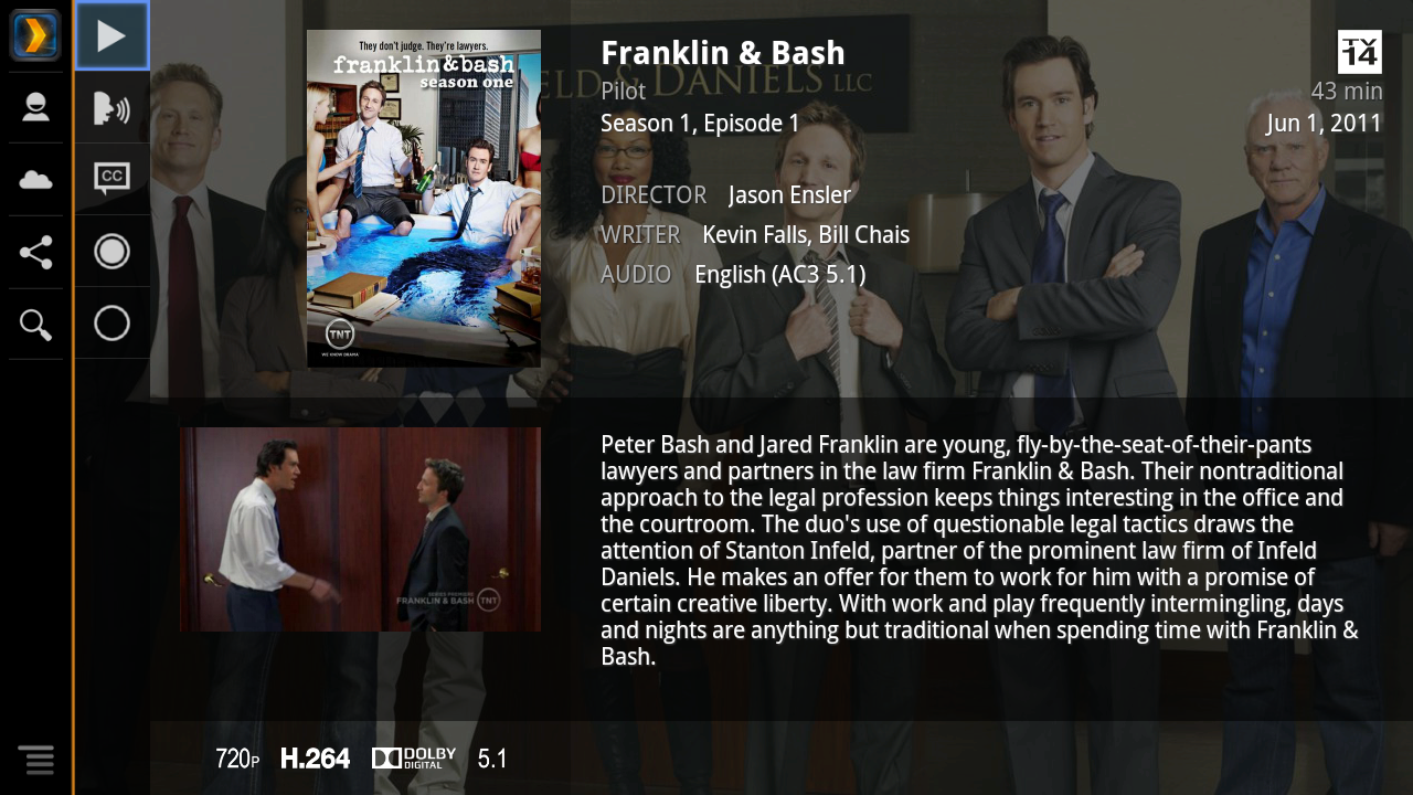 Plex for Sony Internet TV - screenshot
