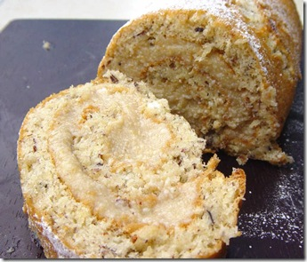 Hazelnut & White Chocolate Roulade
