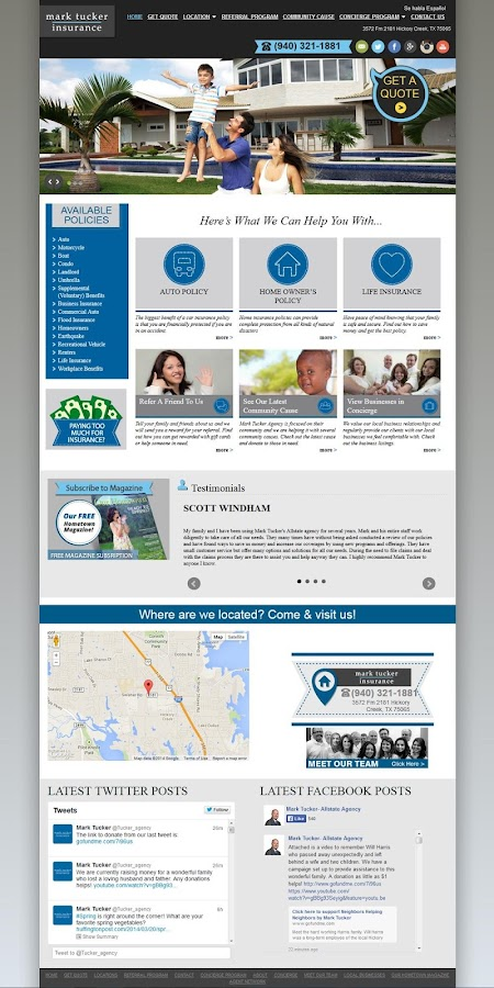 Mark Tucker Insurance- screenshot