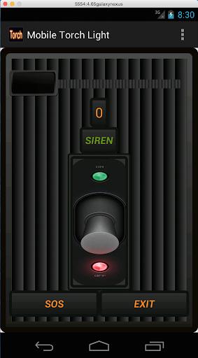 Strobe LED Torch siren SOS
