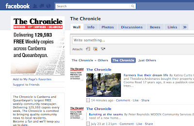 Facebook screenshot of the chronicle