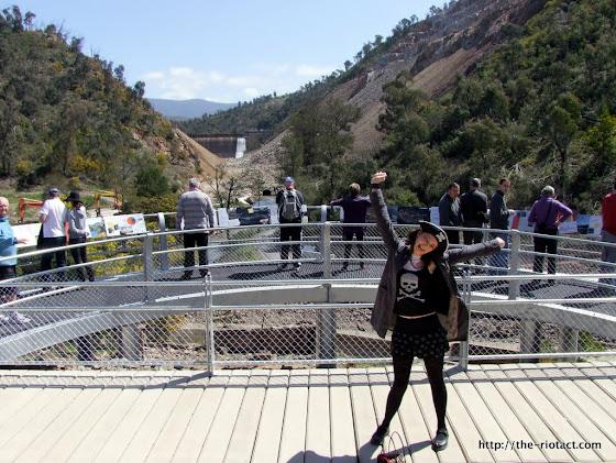 Cotter Dam observation platform