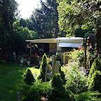 Pleasantly hoky gardens and tchatchkas.