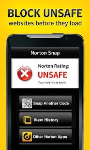 Norton Snap qr code reader - screenshot thumbnail