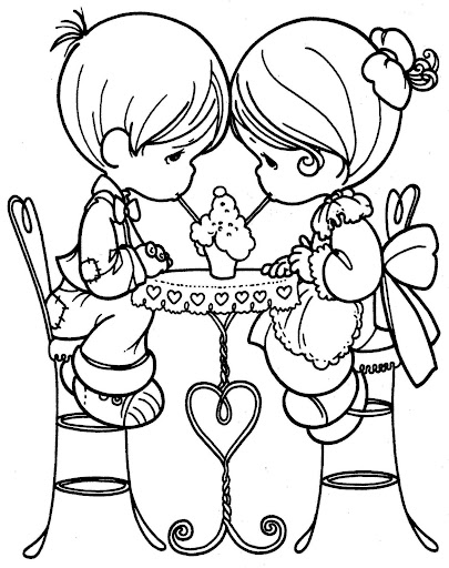 Pinto dibujos enamorados precious moments para colorear for Precious moments coloring page