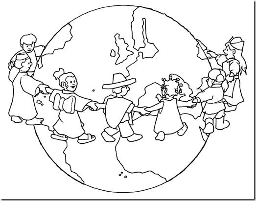 Dibujos De Las Culturas Del Mundo Para Colorear: Pinto Dibujos: De La Paz En El Mundo Para Colorear
