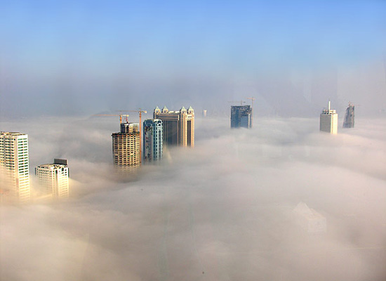 A foggy day in Dubai