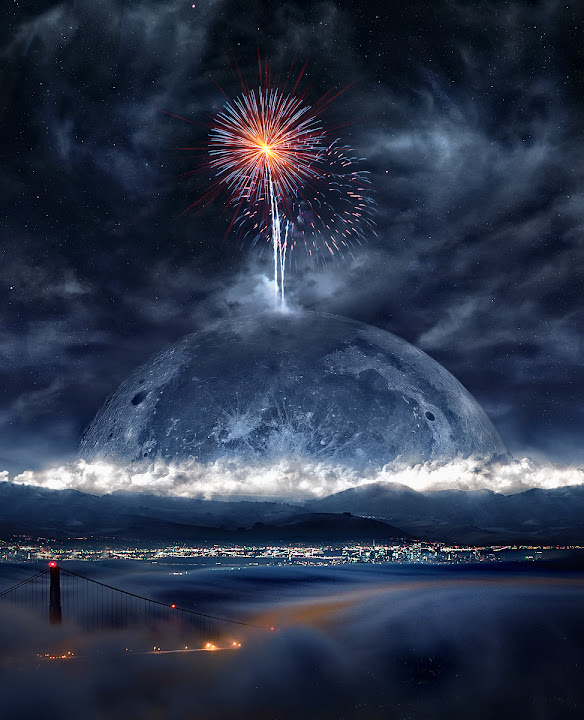 Blue Moon Happy New Year Azrainman S Photoshop Satire