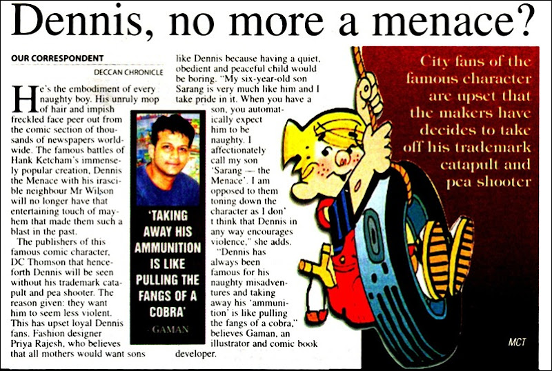 Deccan Chronicle Chennai Chronicle Page 3 Dennis The Menace News