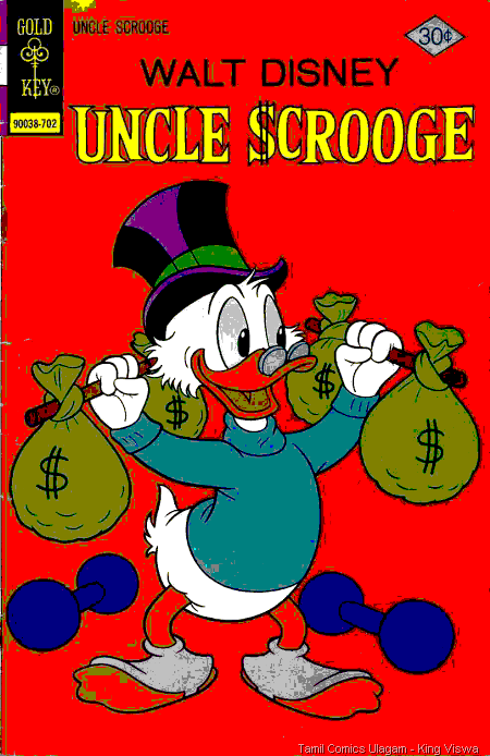 Gold Key Issue No 137 Walt Disney Uncle Scrooge Dated Feb 1977 Front Cover