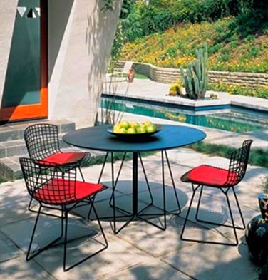 knoll bertoria chair & paper clip table