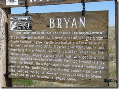 1555 Ghost Town of Bryan WY on Lincoln Highway