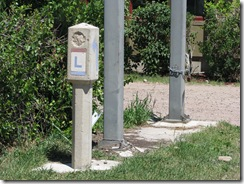 1585 Lincoln Highway Concrete Marker west of Lyman Wy
