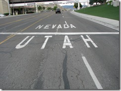 2004 Utah Nevada State Line on the Lincoln Highway thru Wendover NV