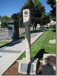 2844 Lincoln Highway Concrete Marker at Nevada State Museum Carson City NV