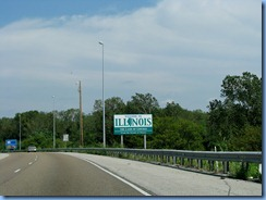 6763 I-270 Welcome to Illinois sign IL