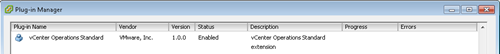 vCenter Operations - vCenter Plug-in Manager