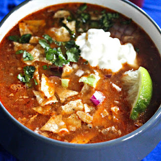 Slow Cooker Chicken Tortilla Soup With All the Fixings