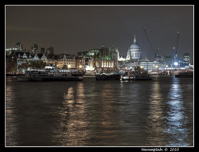 Nuit Tamise night River Thames
