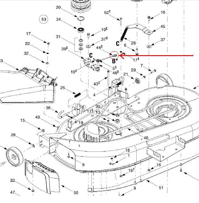 Jd90sdeck furthermore Mtd Snowblower Carburetor Linkage Diagram in addition 1509200 in addition 00045 additionally Craftsman Lt2000 Parts Diagram. on craftsman riding mower deck belt removal