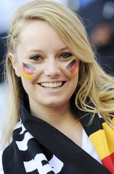 Beauty and secret: World Cup 2010- German hot girl ...