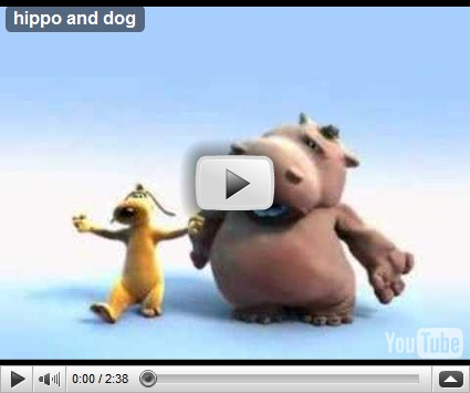, Hippo and dog, startachim blog, startachim blog