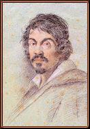 Retrato de Caravaggio, por Ottavio Leoni