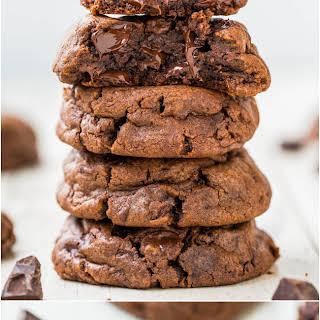 Triple Chocolate Brownie Batter Cookies.