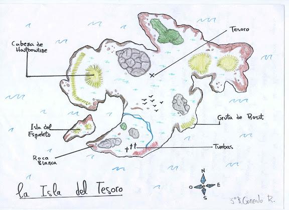 Mapa Isla Del Tesoro.Geografia Lugares Literarios La Isla Del Tesoro