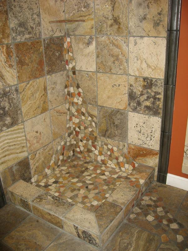 River Rock Stone Shower Floor Gurus Floor