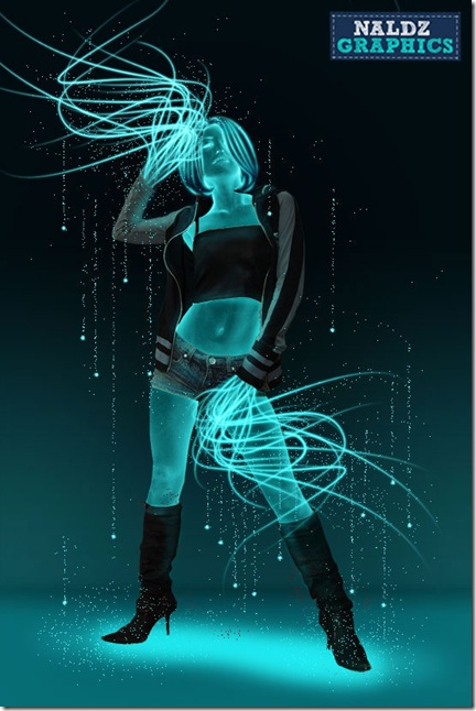 How to Create A Glowing Neon Girl in Photoshop
