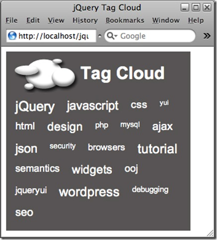 jQuery Tag-Cloud 20 most useful jQuery Plugins for web developer