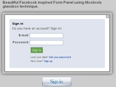 Facebook-inspired-Login-For