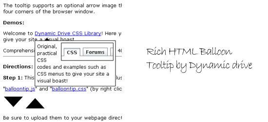 Rich-HTML-Balloon-Tooltip