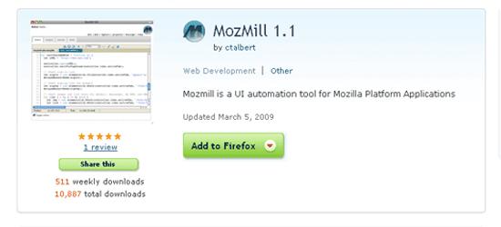 Mozmill UI automation tool