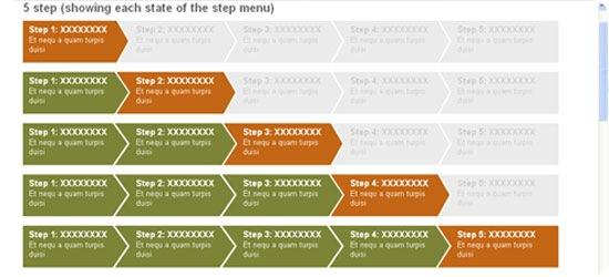 CSS-Step-Menu