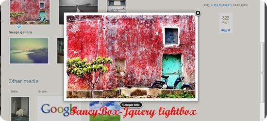 FancyBox-Jquery lightbox