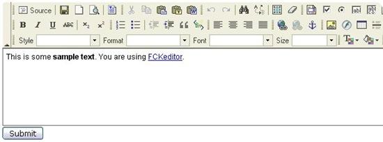9 free web based WYSIWYG Editor