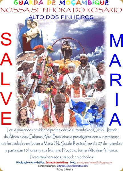 Convite FESTA DO ROSARIO DOS PINHEIROS ALTO 2010