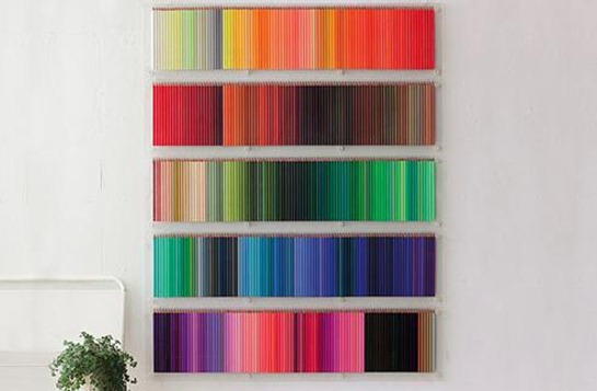 Colored-Pencil-display-white-walls