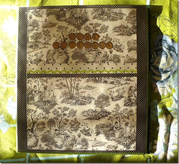 decorated household planner binder