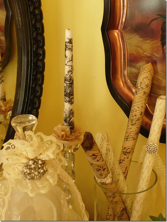 toile candlesticks