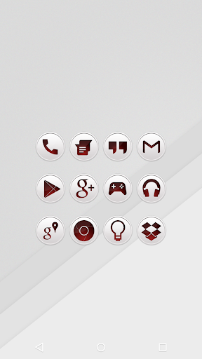 Clean Red - Icon Pack
