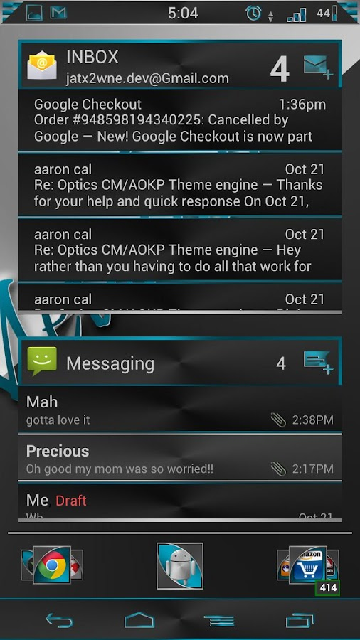 CM / AOKP Azuro Metalico Free - screenshot